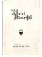 ESPAGNE . DÉPLIANT HÔTEL MARFIL . PALMA DE MALLORCA - Réf. N°174F - - Tourism Brochures