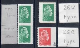 FRANCE 2018 / 1t N° 1599 + 3t N° 1598-carnets Marianne L'engagée ADHESIFS De Guichet Et Distributeur  /  NEUFSxx-...... - 2018-... Marianne L'Engagée