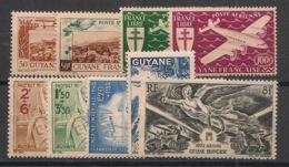 Guyane - 1942-46 - Poste Aérienne PA N°Yv. 20 à 28 - Complet - 9 Valeurs - Neuf * / MH VF - Guyane Française (1886-1949)