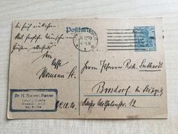 FL2768 Deutsches Reich Ganzsache Stationery Entier Postal P 120AI Von Leipzig-Gohlis - Stamped Stationery