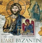 TOGO 2013 SHEET ARTE BIZANTINO PINTURAS BYZANTINE ART PAINTINGS BYZANTIN PEINTURES Tg13119b - Togo (1960-...)