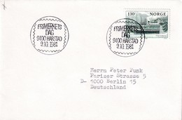Norway 1981 Cover: Trasnport Steam Ship Victoria; Stamp Day - Schiffe