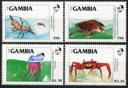 1984Gambia544-547Sea Fauna8,00 € - Vie Marine