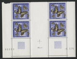 AFARS Et ISSAS COTE 38 € N° 407 ** (MNH) BLOC DE 4 AVEC COIN DATE DU 6/3/75. PAPILLONS. TB - Farfalle