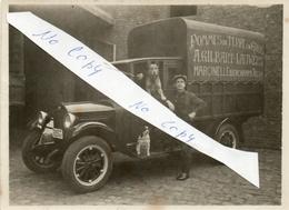RARE!  Marcinelle BIERCHAMPS Camion POMMES DE TERRE EN GROS. Prés Couillet, Dampremy. Véritable Ancienne Photo 12x9 Cm - Belgique