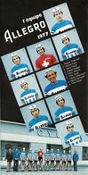 CARTE CYCLISME GROUPE TEAM ALLEGRO 1977 FORMAT 10,8 X 21 - Cycling