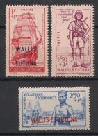 Wallis Et Futuna - 1941 - N°Yv. 87 à 89 - Défense De L'empire - Série Complète - Neuf * / MH VF - Wallis Und Futuna
