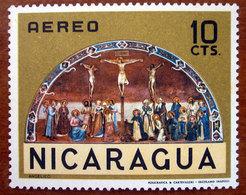 1968 NICARAGUA Posta Aerea Arte Dipinto Crocifissione Di Beato Angelico - 10c  Nuovo - Nicaragua
