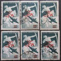 REUNION Poste Aérienne N°45 X 6 Oblitéré - Collections