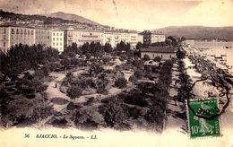 CORSE - AJACCIO : LE SQUARE - ANNÉE / YEAR ~ 1920 - '923 - T.C.V. / TIMBRE CÓTÉ VUE (ae238) - Ajaccio
