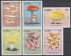 CUBA 3257-3262,unused,mushrooms - Mushrooms