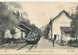 88 - KICHOMPRE - LA GARE - TRAIN EN GARE - ANIMEE - France