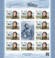 2020-2616 Russia M/S Ivan Kozhedub- Soviet Military Commander,Marshal And ACE Pilot.Three Times Hero.Aviation.WW2 MNH - Blocchi & Fogli