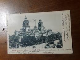Cartolina Postale,  Postcard 1900, Mexico, La Catedral - Messico