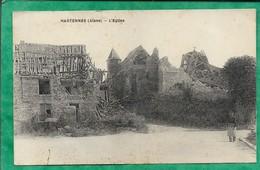 Hartennes (02) L'église 2scans 05-07-1932 (envoyée à M. & Mme Albert Venet à Saint-Erme (02)) Carte Animée - France