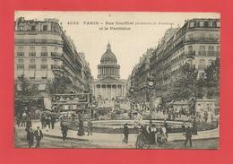 """C.P.A. ( 75 )  """" PARIS  """" Rue Soufflot Et Le Panthéon  ( Animée )   X 2 Photos - Altri"""
