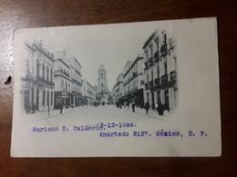 Cartolina Postale,  Postcard 1900, Mexico, Calle Del Cinco De Mayo - Mexico