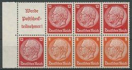 Deutsches Reich 1939 Markenheftchenblatt Hindenburg H-Blatt 97 B Postfrisch - Se-Tenant
