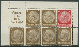 Dt. Reich 1939 Markenheftchenblatt Hindenburg H-Blatt 94 B Ecke Oben Postfrisch - Se-Tenant