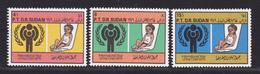 SOUDAN N°  320 à 322 ** MNH Neufs Sans Charnière, TB, Année De L'enfant UNICEF 1979 (D9115) - Soudan (1954-...)
