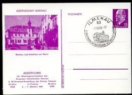 DDR PP10 D2/011a TYP1 Privat-Postkarte MARKT ILMENAU Sost. 1969  NGK 12,00 € - [6] Oost-Duitsland