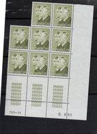 Monaco - Planche De 8 Timbres - Princes Rainier Et Albert (coin Daté) - Ungebraucht