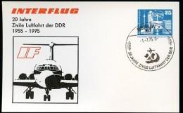 DDR PP17 C1/001a Privat-Postkarte ZIVILE LUFTFAHRT Berlin Sost. 1975  NGK 8,00 € - [6] Oost-Duitsland