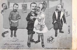 POLITIQUE Satirique ( HUMOUR POLITIQUE ) L'Invitation à La Valse - CPA 1905 - Satiriques