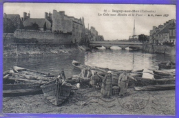 Carte Postale 14. Isigny-sur-mer  La Câle Aux Moules Et Le Pont   Très Beau Plan - France