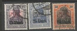Germany Occupation 1. Worldwar Romania M.v.i.R Mi.Nr.: 1-3 Cancelled O - Occupation 1914-18