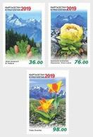 KYRGYZSTAN, 2019, MNH, FLORA OF THE KYRGYZ REPUBLIC, FLOWERS, MOUNTAINS, 3v - Végétaux
