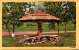 Arkansas Little Rock Lakewood Natural Beach Umbrella 1947 Curteich - Little Rock