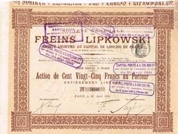 Titre Ancien - Société Générale Des Freins Lipowski  - Titre De 1905 - Automobile