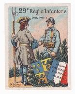 Vignette Militaire Delandre - 29ème Régiment D'infanterie - Vignettes Militaires