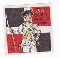 Vignette Militaire Delandre - 35ème Régiment D'infanterie - Vignettes Militaires