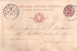 Maddaloni. 1897. Annullo Grande Cerchio MADDALONI, Su Cartolina Postale - 1878-00 Umberto I
