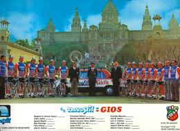 CARTE CYCLISME GROUPE TEAM NOVOSTIL 1977 FORMAT ( DECOUPE FORMAT 21,5 X 31 VOIR PHOTO DEL ANNONCE ) - Cyclisme