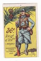 Vignette Militaire Delandre - 36ème Régiment D'infanterie - Vignettes Militaires