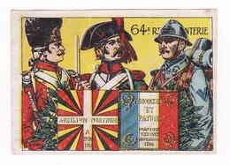 Vignette Militaire Delandre - 64ème Régiment D'infanterie - Vignettes Militaires
