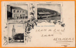 GRUSS Aus ALBERSCHWEILER  -  ABRESCHVILLER  -  ( 57 )  -  Restauration Edmond REINSTADLER - Juillet 1907 - France