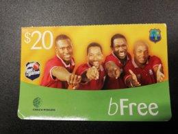 ST LUCIA   $20  B FREE    Prepaid Fine Used Card  ** 258** - Sainte Lucie