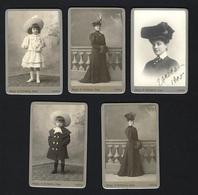 Conjunto De 5 Fotografias Antigas VIDAL & FONSECA Phot. Lisboa. Set Of 5 Old Photos CDV PORTUGAL - Ancianas (antes De 1900)