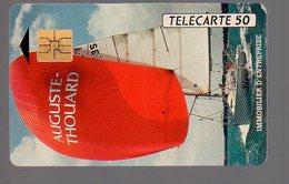 TELECARTE PHONECARD FRANCE 50 U Privée Auguste Thouard Voilier Bateau - France