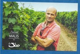 CPM Publicitaire Laurent Malis Viticulteur - Carte Publicitaire Dos Imprimé - Vignes