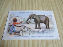 CPA Humoristique - Roudoudou Visite Le Zoo. - Humour