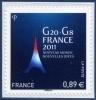 0598  G8 - G20 FRANCE 2011 (4575) Avec Marges  Neuf  **  2011 PRO - Autoadesivi