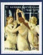 0509  Sandro Botticelli - Le Printemps (4519)  Marges  Neuf **  2010  PRO + - Autoadesivi