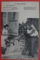 AU PAYS BASQUE GENTIL MESSAGER -  Couple Paysans Folklore Fantaisie - TEXTE EN BASQUE - Autres Communes