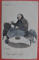 Illustrateur GABARD - Humour Basque Paysanne Métier Marchande De Marrons - Non Classés