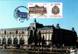 Carte Maximum YT 4678, Le Musée D'Orsay Oblitération Spéciale 1er Jour 85e Congrès De La FFAP 16 06 2012 Paris TBE - Cartes-Maximum